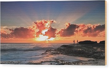 Blessed Fishermen Wood Print by Mark Lucey