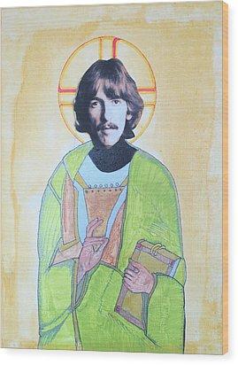 Blessed George Wood Print by Philip Atkinson