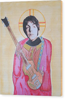 Blessed Paul Wood Print by Philip Atkinson