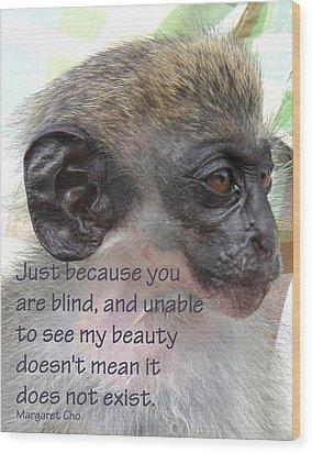Blind Beauty Wood Print by Ian  MacDonald