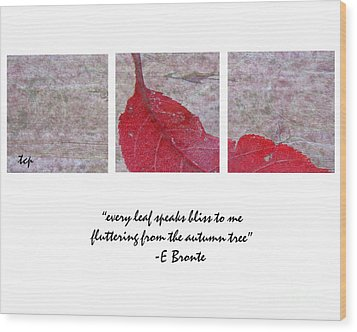 Bliss Wood Print by Traci Cottingham