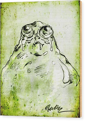 Blob Monster Wood Print