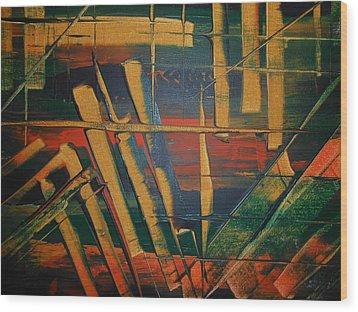 Blocked-2 Wood Print by Lisa Williams