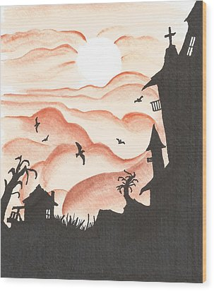 Blood Red Sky Wood Print by Anthony McCracken