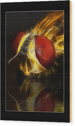 Wood Print featuring the digital art Blood Shot 02 by Kevin Chippindall