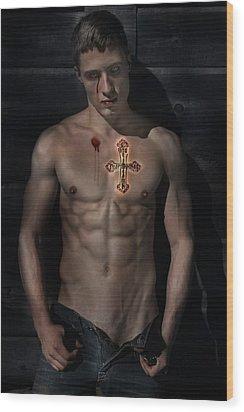 Blood Tears Wood Print by John Clum