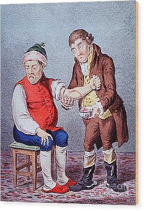 Bloodletting-1804 Wood Print by Science Source