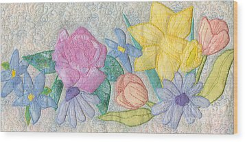 Bloomin' Favorites Wood Print by Denise Hoag