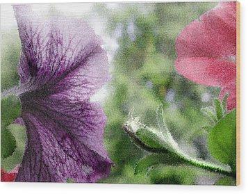 Blooming Flowers Wood Print