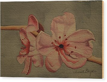 Wood Print featuring the painting Blossom II by Teresa Beyer