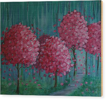 Blossoms Wood Print by Melodie Douglas