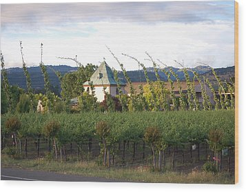 Blowing Grape Vines Wood Print by Holly Blunkall