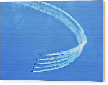 Wood Print featuring the photograph Blue Angels by Kelly Reber