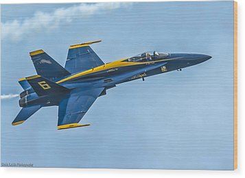 Wood Print featuring the photograph Blue Angels by Linda Karlin