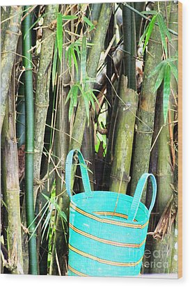 Blue Bamboo Wood Print by Isabelle Mbore
