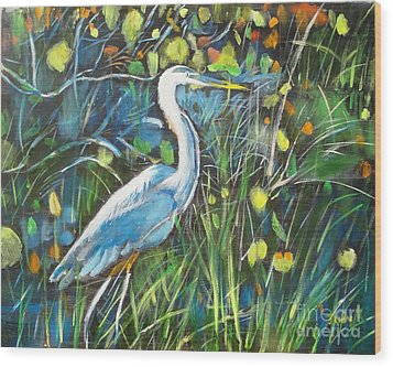 Blue Bayou Wood Print by Judy Kay