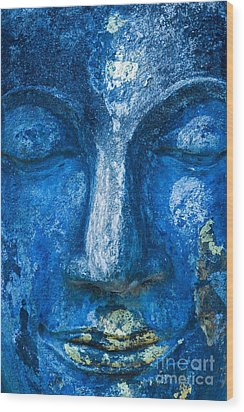 Wood Print featuring the photograph Blue Buddha  by Luciano Mortula