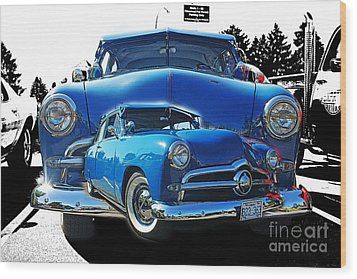 Blue Classic Dbl.hdr Wood Print by Randy Harris