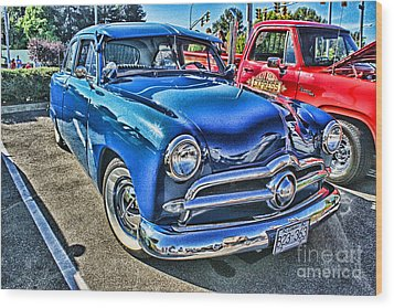 Blue Classic Hdr Wood Print by Randy Harris