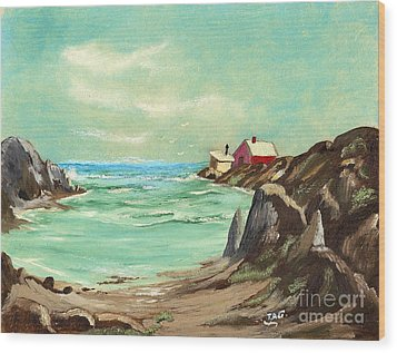 Blue Cove Serenity Wood Print