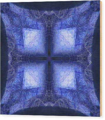 Blue Crystal Wood Print by Joe Halinar