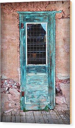 Blue Door 316 Wood Print