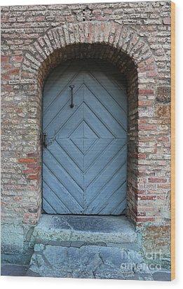 Blue Door Wood Print by Carol Groenen