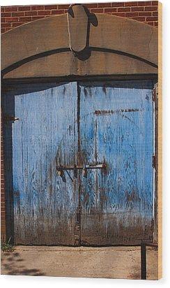 Blue Doors Wood Print by Bob Whitt