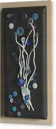 Blue Wood Print by Ellery Russell