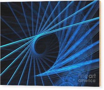 Blue Fantasy Wood Print by Yali Shi