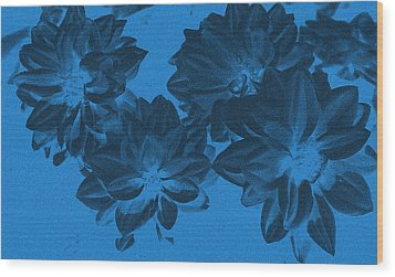 Blue Flower Art Wood Print by Aimee L Maher Photography and Art Visit ALMGallerydotcom