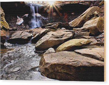 Wood Print featuring the photograph Blue Hen Falls by Michelle Joseph-Long