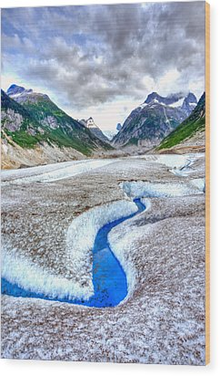 Blue Ice Wood Print by Don Mennig