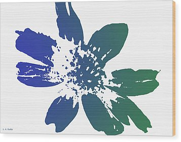 Wood Print featuring the photograph Blue In Bloom by Lauren Radke
