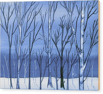 Blue Interlude Wood Print