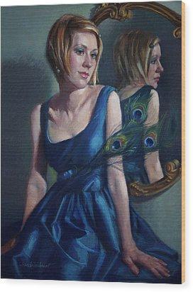 Blue Wood Print by Jean Hildebrant
