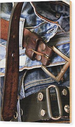 Blue Jeans Wood Print by Stelios Kleanthous