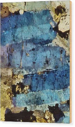 Blue Layers Of The Mind Wood Print by Gun Legler