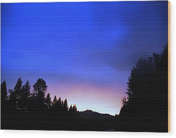 Blue Lightning Wood Print by Don Mann