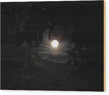 Blue Moon Wood Print by K Walker