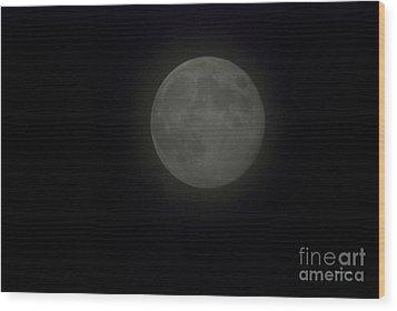 Blue Moon Wood Print by Thomas Woolworth