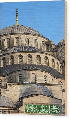 Blue Mosque Domes Wood Print by Artur Bogacki