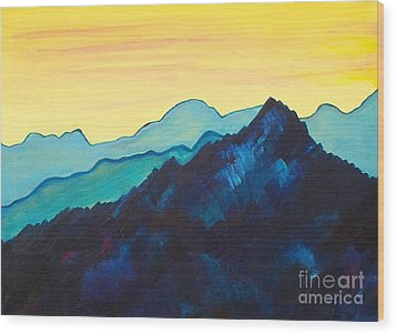 Blue Mountain II Wood Print by Silvie Kendall