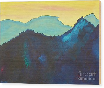 Blue Mountain Wood Print by Silvie Kendall