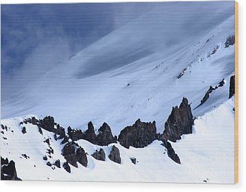 Blue Mountain Winds Wood Print by Tap On Photo