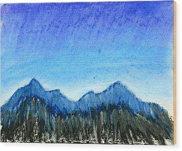 Blue Mountains Wood Print by Hakon Soreide