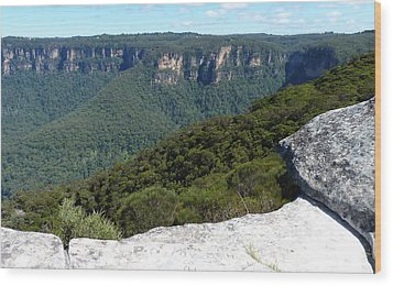 Blue Mountains Wood Print by Carla Parris