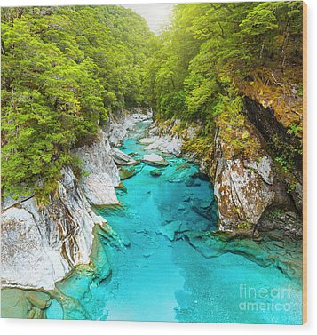 Blue Pools Wood Print by MotHaiBaPhoto Prints