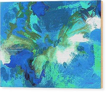 Blue Resonance Wood Print by Charles Yates