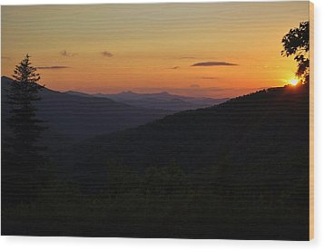 Blue Ridge Mountain Sunset Wood Print by Jeff Moose